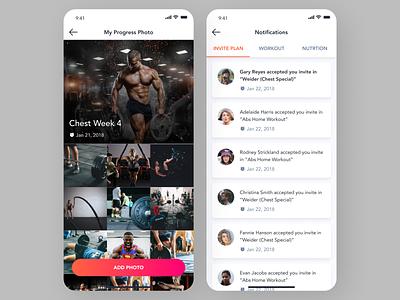 New Ftiness App design app ui android app mobile app ui app design app