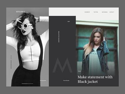 Fashion Landing Page Concept branding ui design