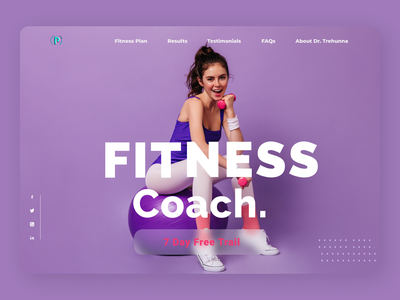 Fitness Coach Concept design