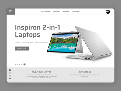 Laptop Lading Page