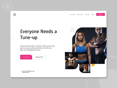 Fitness Web Concept
