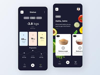 Healthy Diet App ui app design