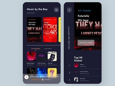 Music App ui app design