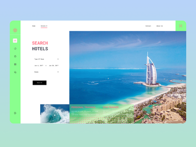 Exploring Hotel Dashboard travel blog travel ui travelling tickets travel agency travel destination location design