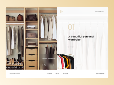 Personal Wardrobe Concept branding ui design