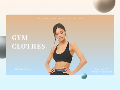 GYM Clothes Landing Page ui branding design