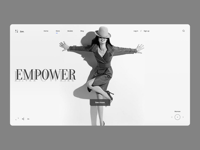Fashion Web Concept branding design
