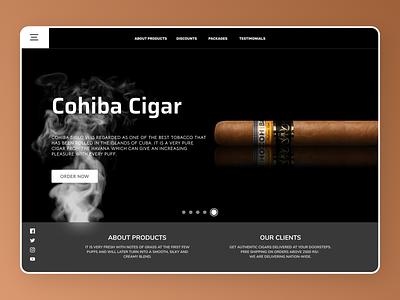 Cigar Landing Page branding ui design