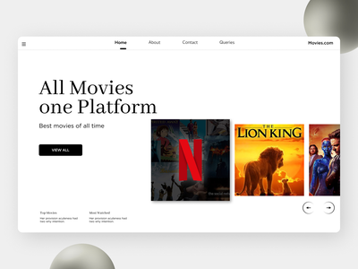 Moviw Landing Page branding ui design
