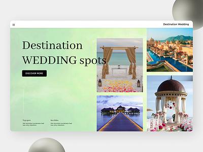 Wedding Spot Landing Page destination ui design