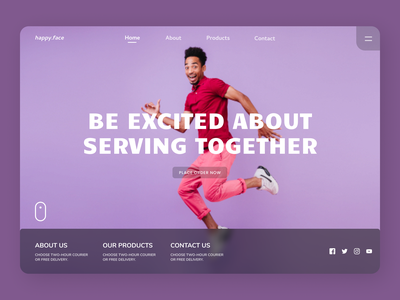 Service Landing Page ui design