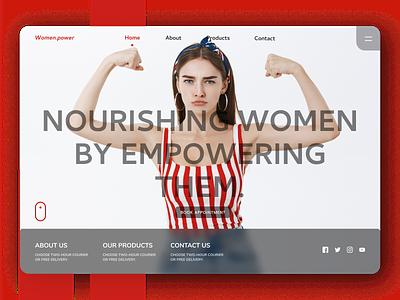 Women Power Landing Page ui design