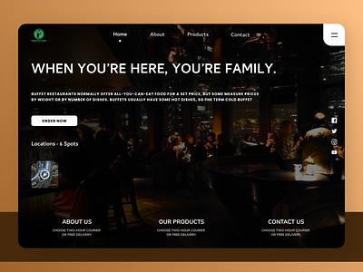 Restaurants Landing Page ui design