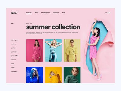 Fashion Store Category Page storefront store ui online store online website clothing store fashion brand ui ecommerce store minimalistic minimalist minimal fashion