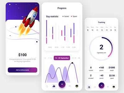 Tracking App ui design gadget mobile app features app design
