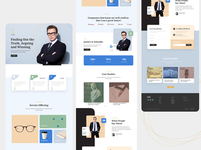 Lawyer website ui design contact landing page