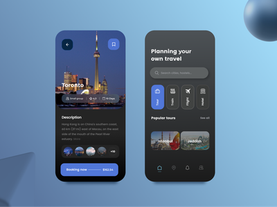 Traveling App app design design contact ui