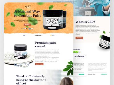 Medicine Landing Page branding landing page concept ecommerce app design contact accessories ui landing page