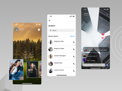 Contact App mobile app features design app design ui
