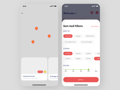 Map App Concept contact mobile app features design app design ui