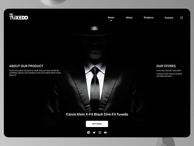 Men Dressing Web landing page concept branding accessories landing page design ui