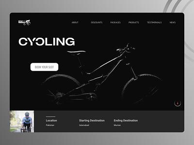 Cycle Web Design branding landing page concept landing page design ui
