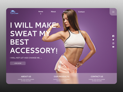 Fitness Accessories branding landing page concept landing page design ui