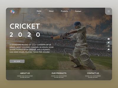 Cricket Landing Page landing page concept landing page design ui