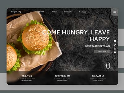 Food Landing Page branding landing page concept landing page design ui