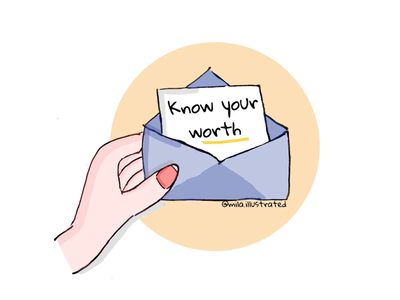 Know your worth❤️ motivation love childrenillustrations illustrated illustrations illustration