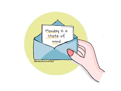 Monday is a state of mind doodles doodle illustrations amazing art illustration motivation monday