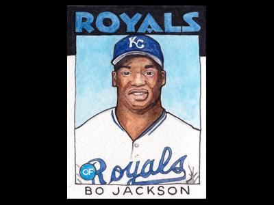 Hand Made Bo Jackson Baseball Card By Michael E Olson On