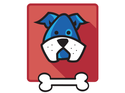 Little Blue Dog dog jump blue circle round pup puppy vector illustrator