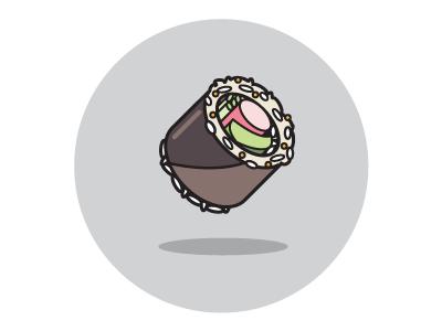 California Roll digital sketch illustrator adobe california roll sushi vector
