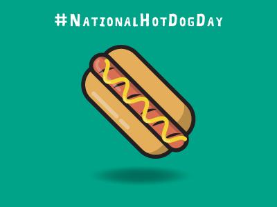 National Hot Dog Day celebrate day national dog hotdog inbound marketing design creative imbue