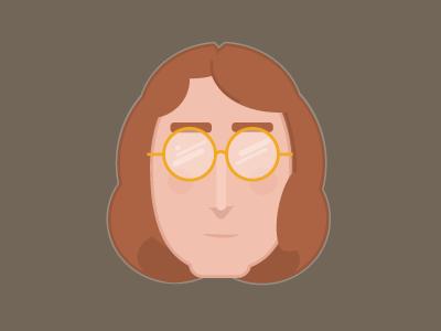 John Lennon Portrait beatles portrait adobe illustration vector lennon john