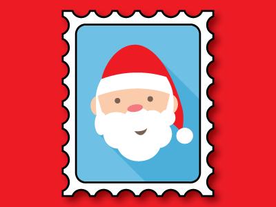 Santa Stamp holiday letter stamp adobe illustrator vector santa christmas