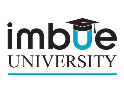 Imbue University Logo info sharing creative agency agency creative university imbue design logo design logo