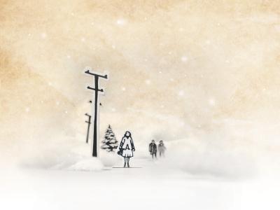 Holiday Card Concept imbuecreative imbue creative paper cutouts soft winter styling photo illustration card holiday