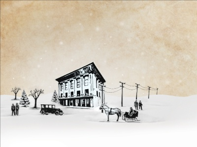 Imbue Holiday Card cotton creative adobe styling photo winter snowy illustration cut paper