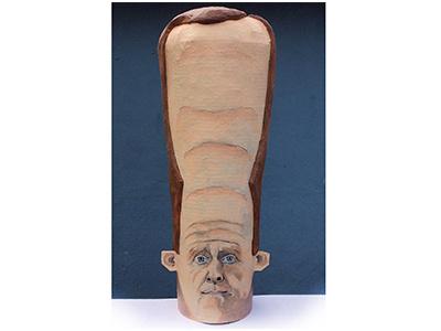 Paper Mache Senator Pat Toomey Mask head handmade mask government toomey senator sculpture papermache paper