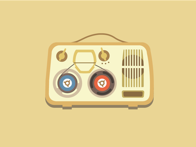 audio tape recorder vintage recorder reel to reel grundig portable audio tape music illustration icon