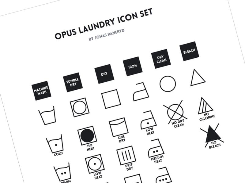 Opus Laundry Icon Set icon icons laundry washing chlorine ironing icon set tumble dry line dry