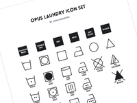 Opus Laundry Icon Set