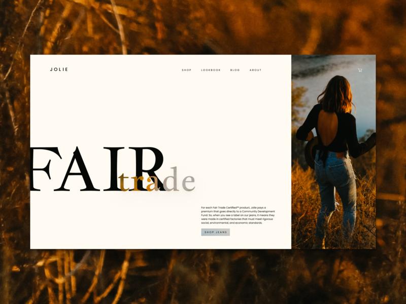 Jolie - Fair Trade Certified Lookbook Website figma fashion ecommerce microsite web design typography webdesign ux ui website