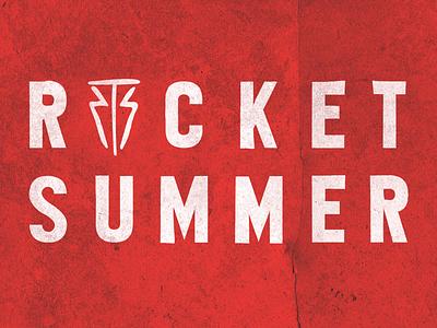 The Rocker Summer - Identity graphic design symbol typography logo design identity band branding design logo