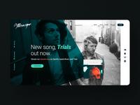 """Trials"" Website web web design webdesign websites artist site band website music artist album art graphic design design band musician music ux ui website design website"