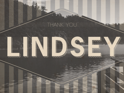 Thank You Lindsey