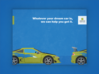 Fast and Furious Eclipse - Whatever Your Dream Car Is illustration typography branding auto loan credit union banking poster design fast and furious eclipse postcard direct mail identity graphic design design