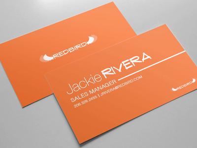 Redbird red print design branding business card redbird